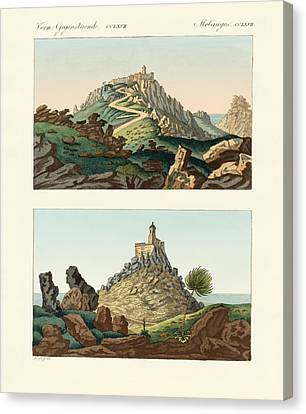 Strange Abbeys In Portugal Canvas Print by Splendid Art Prints