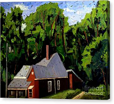 Strange Brown House Canvas Print by Charlie Spear