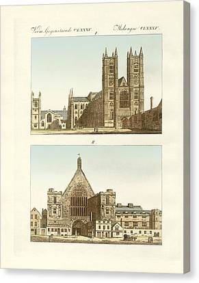 Strange Buildings In London Canvas Print by Splendid Art Prints
