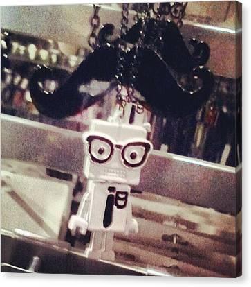 #strange #cute #quirky #robot Canvas Print by Quintin Ellis Jr