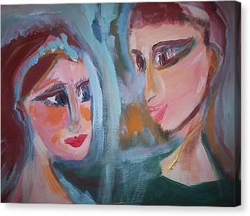 Strange Dear Ballet Canvas Print by Judith Desrosiers