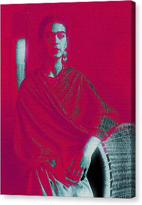 Strange Frida Canvas Print by Michelle Dallocchio
