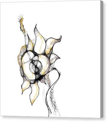 Surrealism Canvas Print - Strange Kind Of Flower by Danny Biz