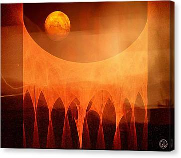 Strange Moon Canvas Print by Gun Legler