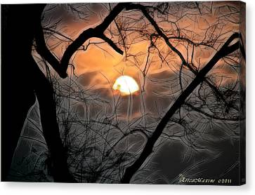 Canvas Print featuring the photograph Strange Morning by EricaMaxine  Price