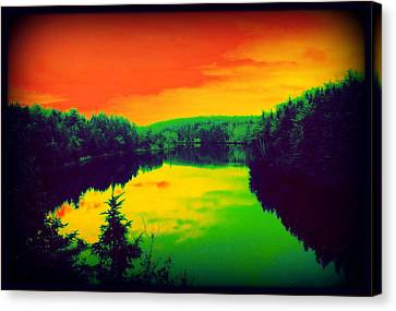 Strange River Scene Canvas Print