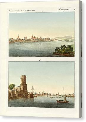 Strange Towns On The Rhine Canvas Print by Splendid Art Prints