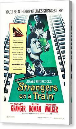 Strangers On A Train - 1951 Canvas Print by Georgia Fowler