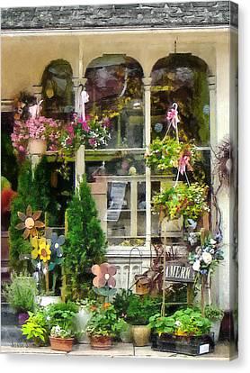 Strasburg Flower Shop Canvas Print