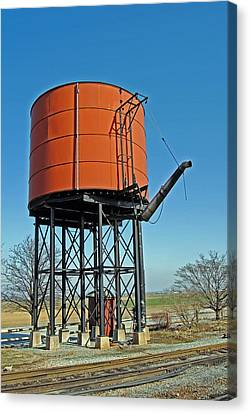 Strasburg Water Tower Canvas Print by Skip Willits