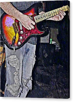 Strat Man  Canvas Print by Chris Berry