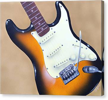 Strat O. Caster Canvas Print by Chris Fraser