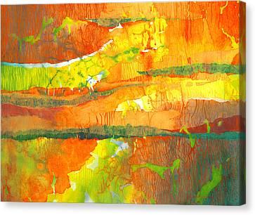 Strata Canvas Print by Lynda Hoffman-Snodgrass