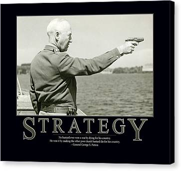 Strategy General George S. Patton Canvas Print by Retro Images Archive