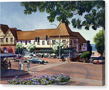 Downtown Canvas Print - Stratford Square Del Mar by Mary Helmreich