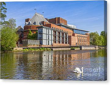 Stratford Upon Avon Royal Shakespeare Theatre Canvas Print by Colin and Linda McKie