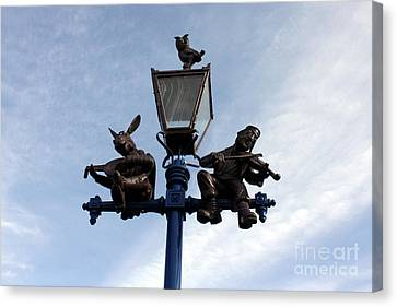 Stratford's Jewish Lamp Post Canvas Print by Terri Waters