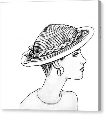 Straw Hat Canvas Print by Sarah Parks
