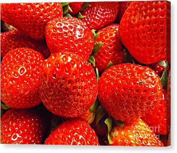 Strawberries Canvas Print by Clare Bevan