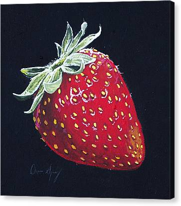 Sour Canvas Print - Strawberry by Aaron Spong