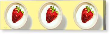 Strawberry And Cream Canvas Print by Bob Orsillo
