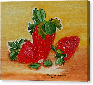 Strawberry Delight Canvas Print by Johanna Bruwer