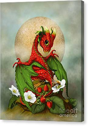 Bees Canvas Print - Strawberry Dragon by Stanley Morrison