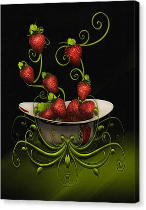 Strawberry Fancy Canvas Print