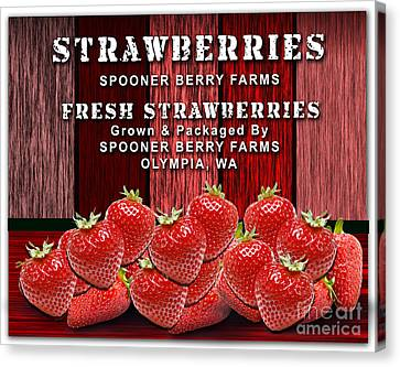 Strawberry Farm Canvas Print by Marvin Blaine