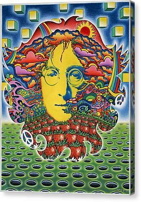 Strawberry Fields For Lennon Canvas Print by Jeff Hopp