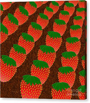 Strawberry Fields Forever Canvas Print by Andee Design