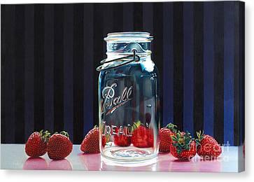 Strawberry Jam Canvas Print by Arlene Steinberg