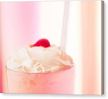 Strawberry Milkshake Canvas Print
