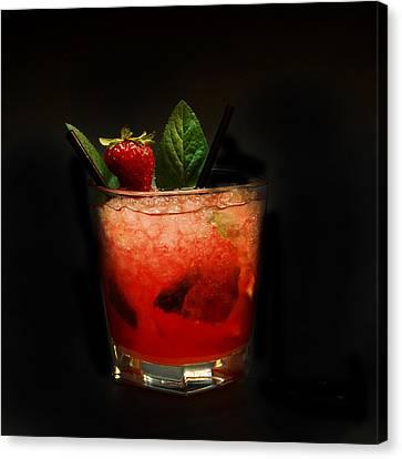 Strawberry Mojito Canvas Print