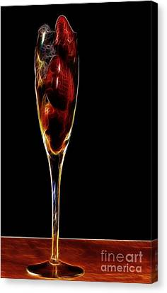 Canvas Print featuring the photograph Strawberry Sparkler by Shirley Mangini