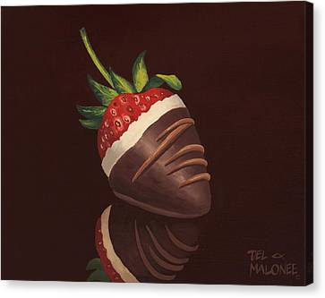 Strawberry Surprise Canvas Print by Del Malonee