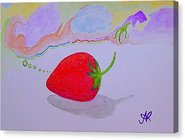 Strawberry Thoughts Canvas Print