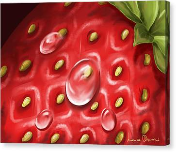 Strawberry Canvas Print by Veronica Minozzi