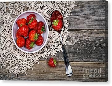 Strawberry Vintage Canvas Print by Jane Rix