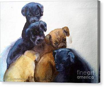 Stray Puppies Canvas Print