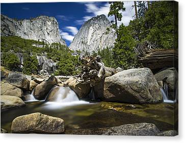 Canvas Print featuring the photograph Stream Above Vernal Falls by Mike Lee