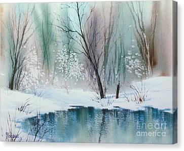 Stream Cove In Winter Canvas Print