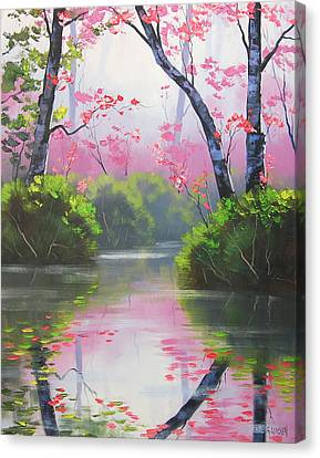 Stream Reflections Canvas Print by Graham Gercken