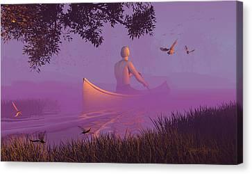 Streamglider Canvas Print by Dieter Carlton