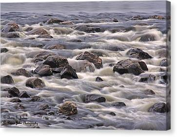 Streaming Rocks Canvas Print