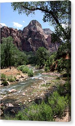 Streaming Vista In Utah Canvas Print