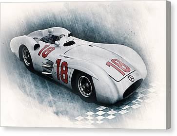 Mercedes Automobile Canvas Print - Streamliner by Peter Chilelli