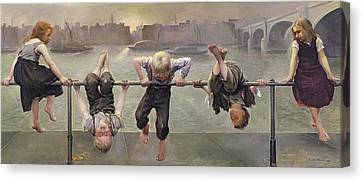 Street Arabs At Play Canvas Print