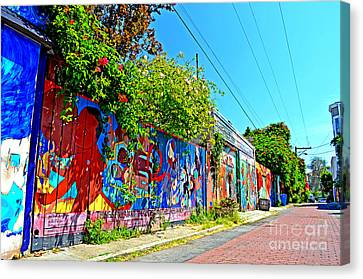 Street Art In The Mission District Of San Francisco IIi Canvas Print by Jim Fitzpatrick