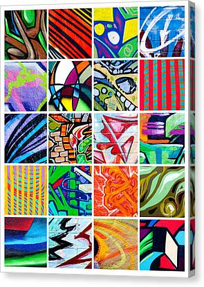 Street Art Patchwork Canvas Print by Art Block Collections